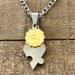Pisces Puzzle Piece Pendant Necklace
